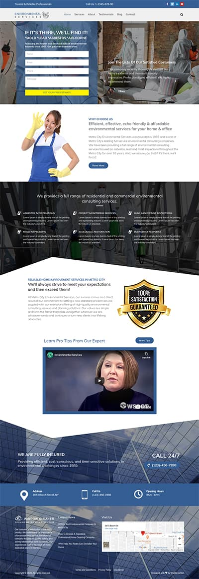 Environmental Services WORDPRESS THEME Full Demo